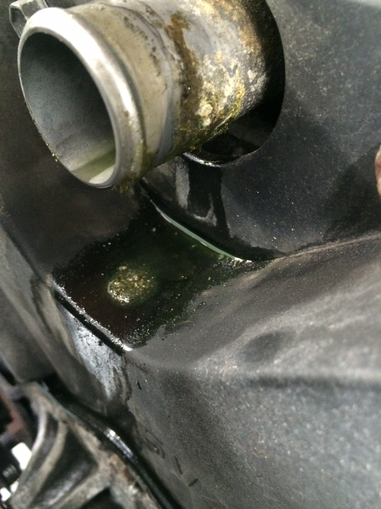 Coolant leaks and corrosion
