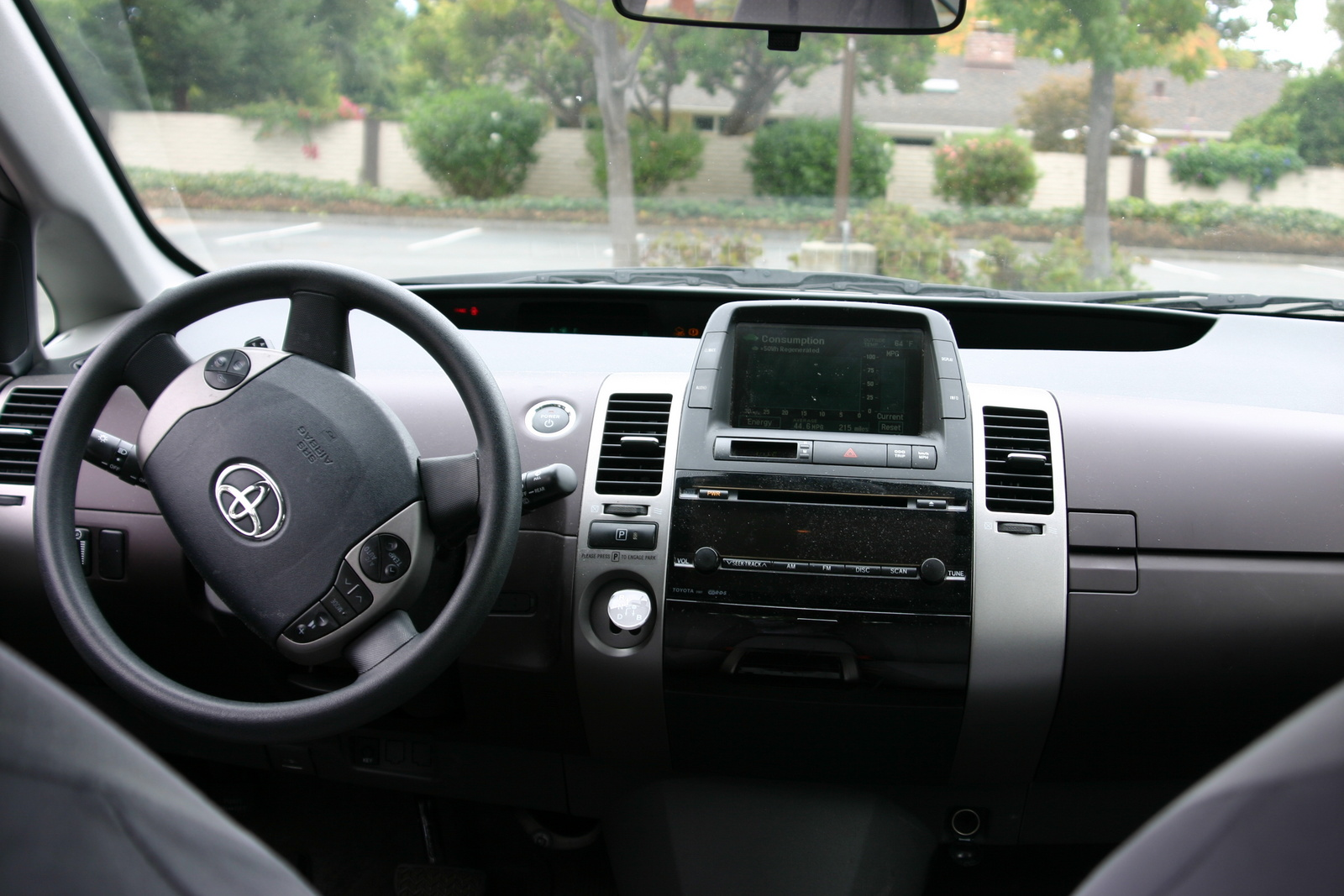 Interior of a 2005 Prius