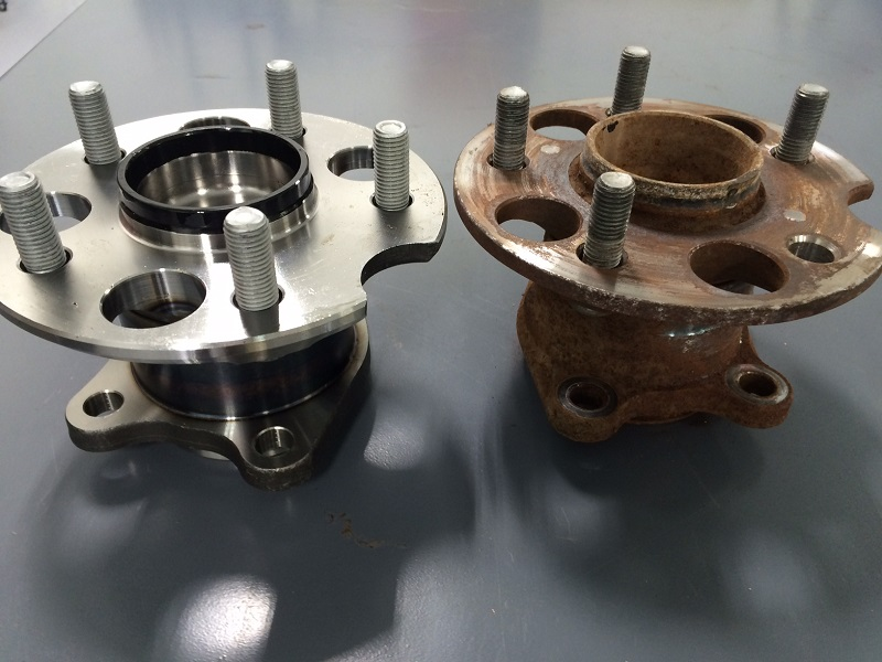New and Old Bearing