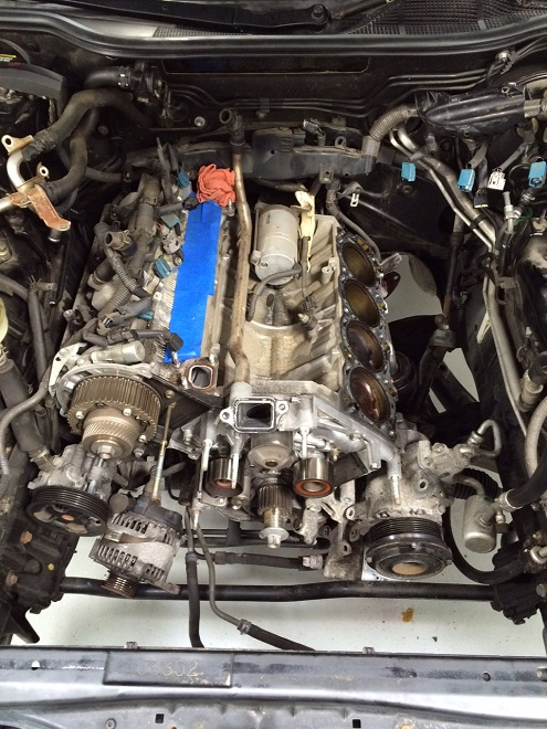 LS430 cylinder head removal