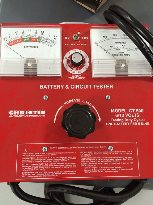 Manual Battery Tester