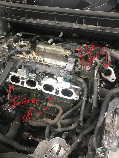 Prius Engine Bay Intake Removed