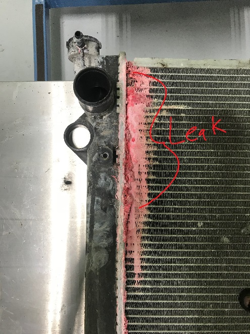 Lexus GX470 no heat, coolant leak - radiator leaking