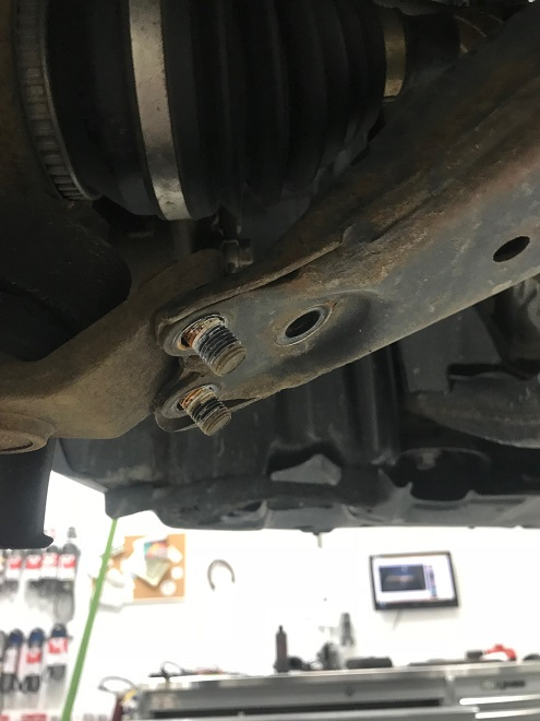 Control arm released