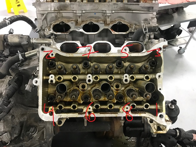 Bank 1 head bolt removal order