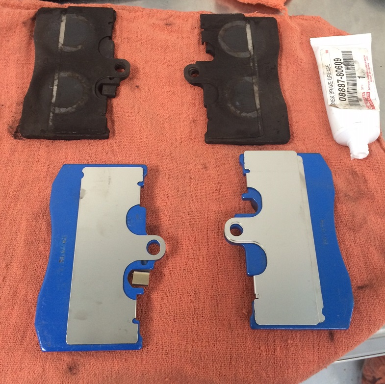 IS350 old vs. new front brake pads