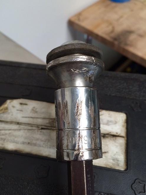 Locking Lug Nut Removed