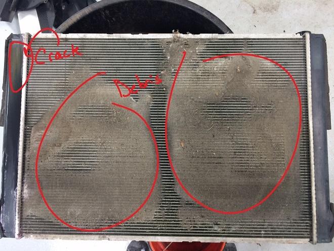 RX400h Radiator Plugged