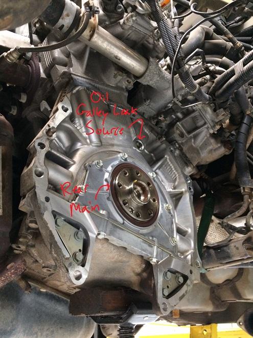 3MZ rear main, galley leak