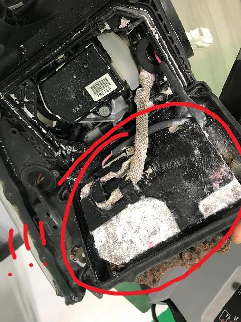 RX Headlight Inside Corrosion