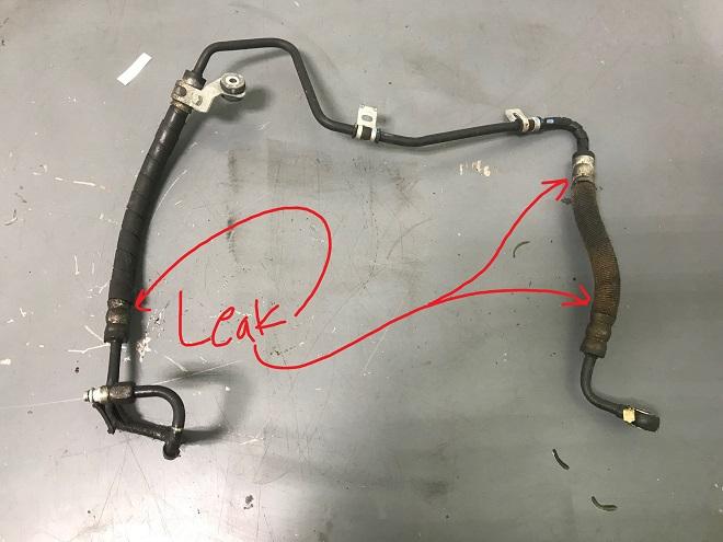 Leaking Power Steering Line
