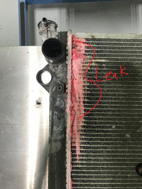 GX470 leaking radiator