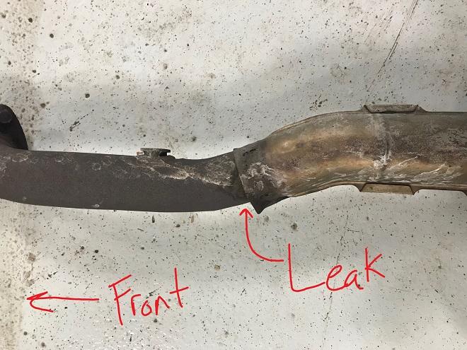 GS350 exhaust leak