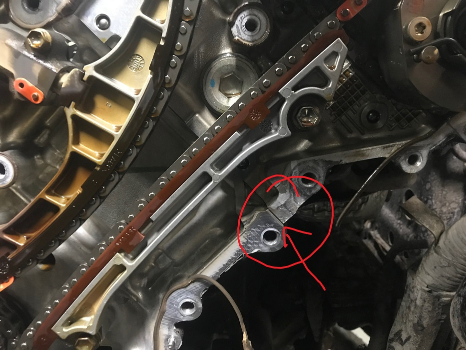 Timing cover leak location
